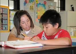 a science tutor teaching a kid