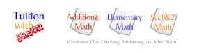 tuition with jason logo - additional math, elementary math, sec 1 and sec 2 math