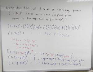 Image: amath class on sunday, soklution to binomial theorem and expansion