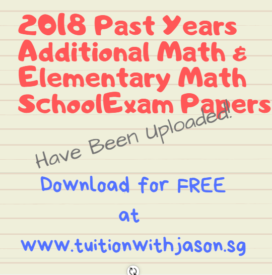 Singapore GCE O-Level Additional Mathematics Paper 2