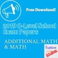 2019 exam papers free download additional math and math school exam papers