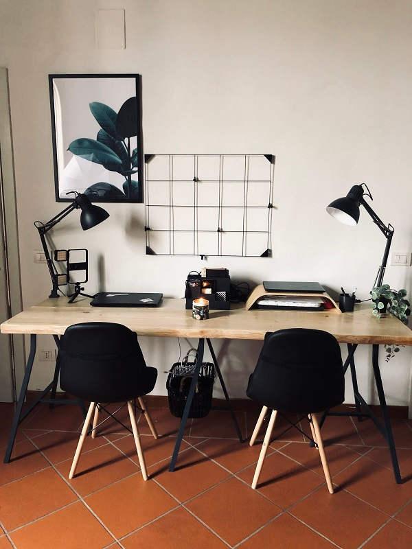scrivania frontale