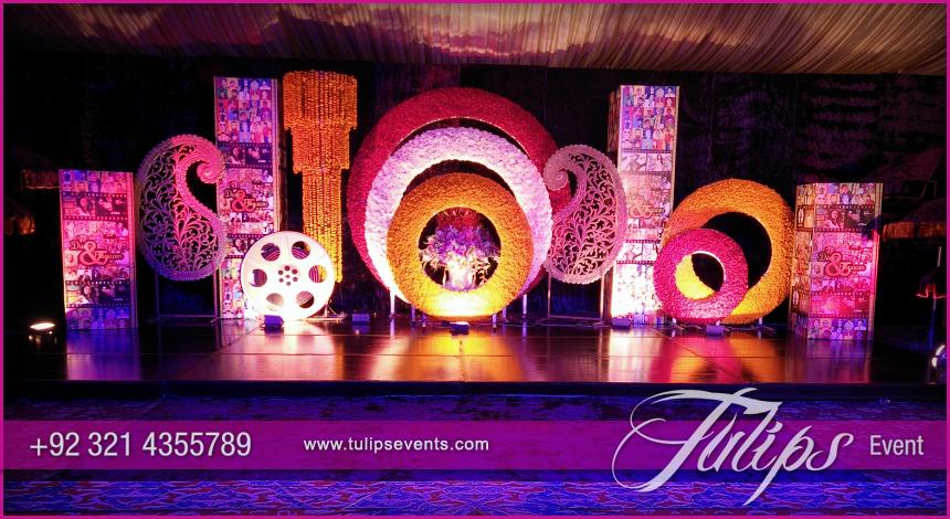 Bollywood Night Mehendi Theme Stage Decoration Ideas In