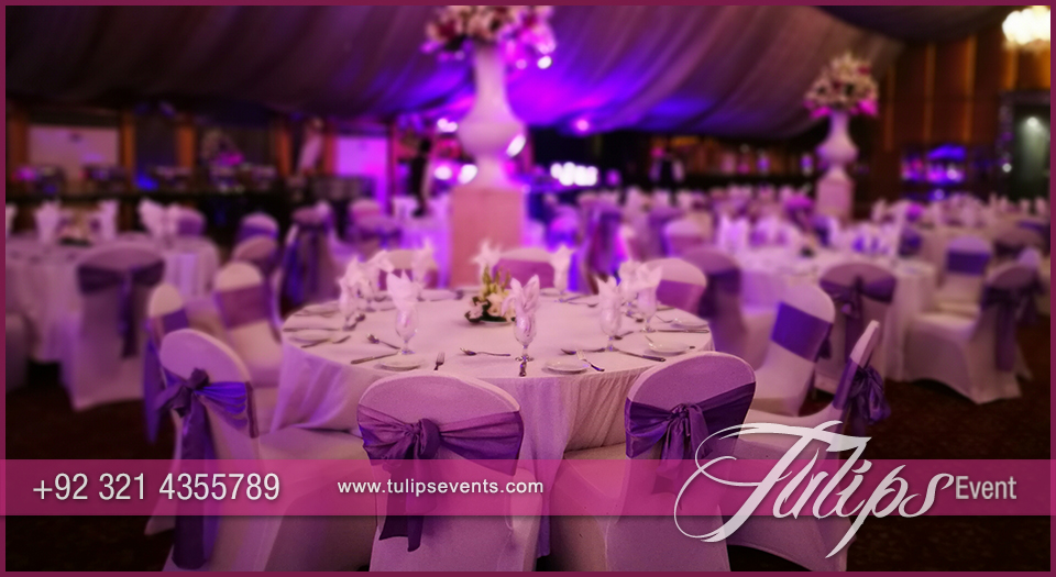 Plum Gold Wedding Reception ideas in pakistan