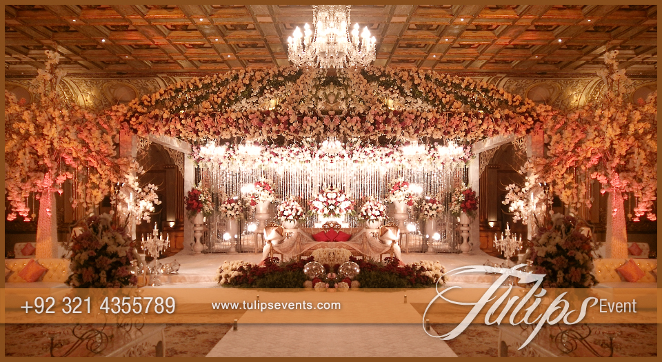 wedding stages decoration white garden walima stage tulips event management 1162