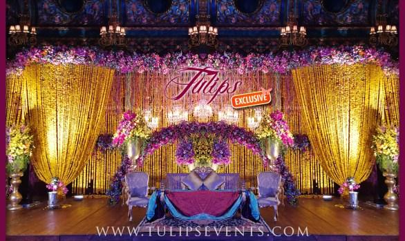 Marigold Plum Wedding Stage