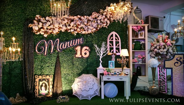 Sweet 16 Outdoor Theme Party - Tulips Event Management