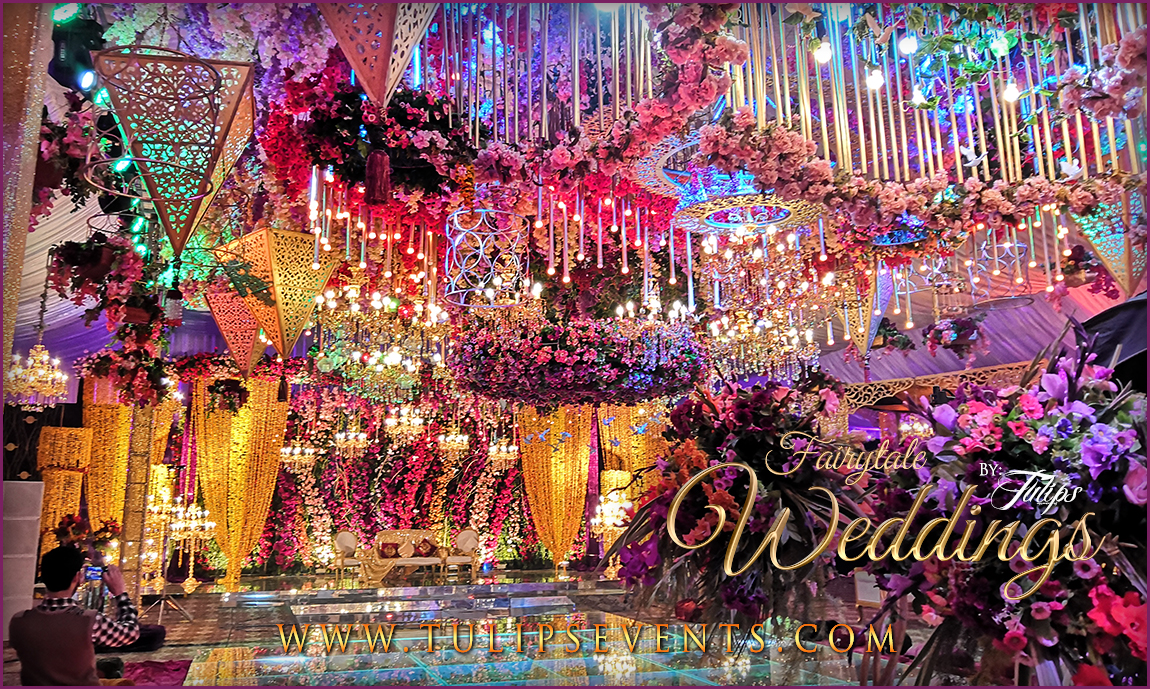 Enchanted Mehndi Stage Dance Floor Roof Decoration Ideas In Pakistan