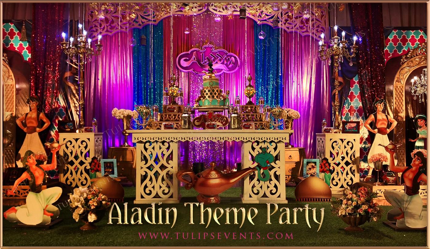 Aladdin Theme Party Decorations , Tulips Event Management