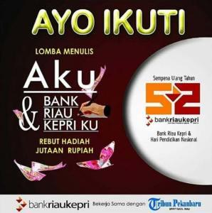 Lomba Menulis Cerita Bank Riau Kepri