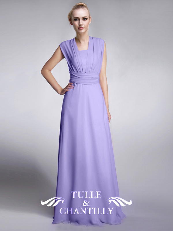 Tulle And Chantilly Multi Wear Bridesmaid Dresses TBQP169 Get 4 Styles With Only 1 Dress