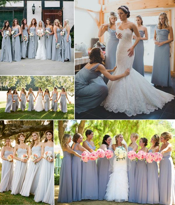 Grey And Blush Pink Wedding Inspiration Tulle