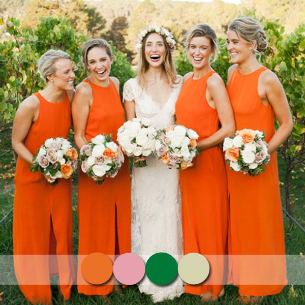 Top 6 Most Flattering Bridesmaid Dress Colors In Fall 2014 2015 Tulle Chantilly Wedding Blog