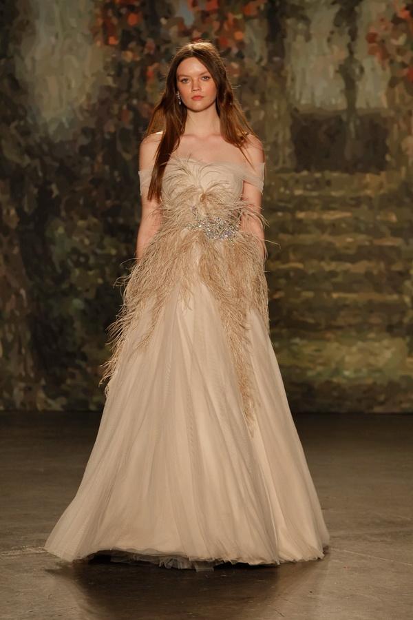 Blue Monique Lhuillier Bridal Gowns