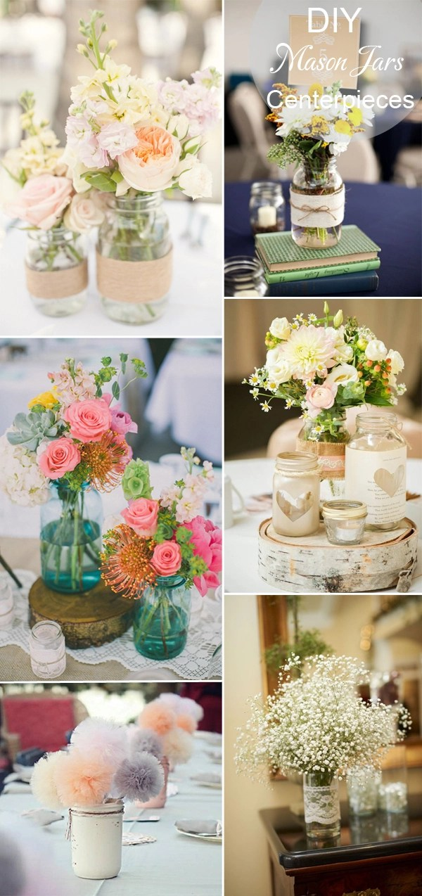 Wedding table decor diy for Diy wedding reception ideas
