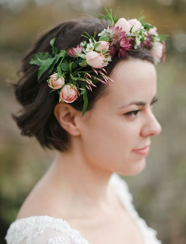 20 Creative Short Wedding Hairstyles For Brides Tulle