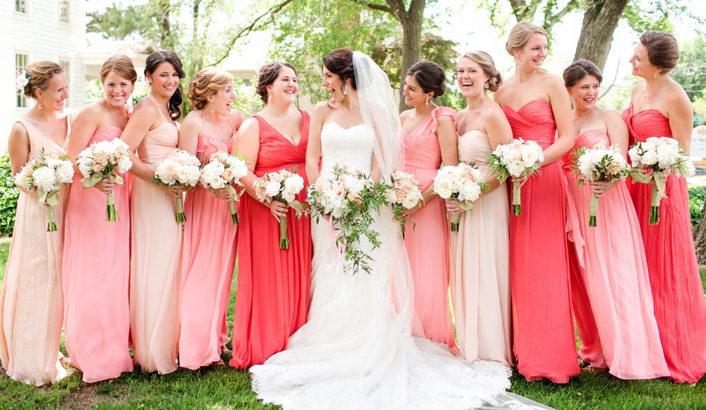 Image Result For Bridesmaid Jewelry For Coral Dresses