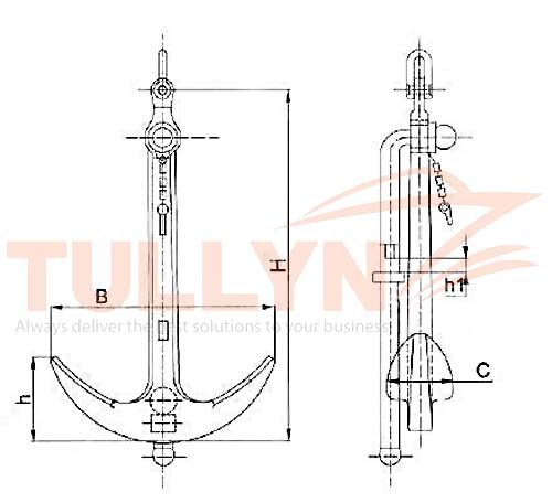 Admiralty Anchor Drawing