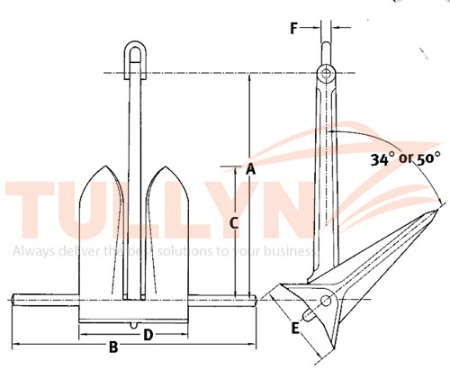 Moorfast Anchor Drawing