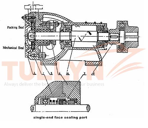 W Series Single Level Cantilever Vortex Water Pump Construction