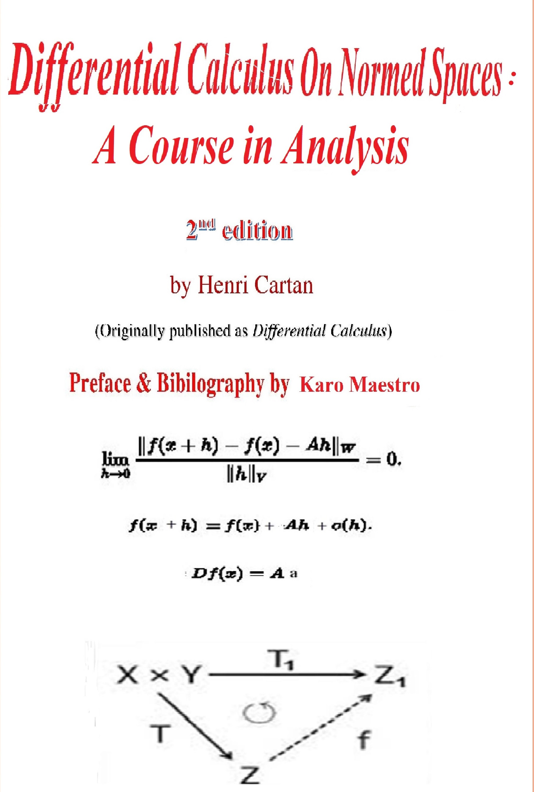 Text Differential Calculus On Normed Spaces By Cartan 2nd Ed