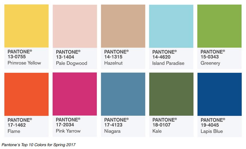 Pantone kleuren