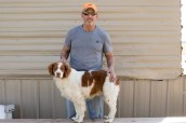 Doug Hardesty and Bullett took second in the April 5th Gun Dog Trial.