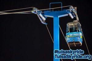 Tulsa Skyride at night: Save Our Skyride