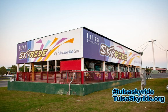 Tulsa Skyride: the western station got this new look for 2008.