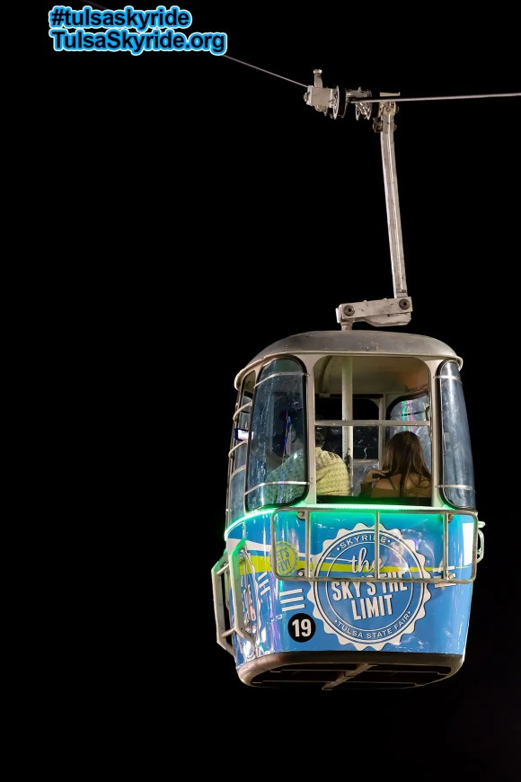Tulsa Skyride: Here is a cabin during the 2017 Tulsa State Fair with one of the new wrap designs.