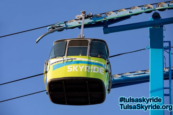 Tulsa Skyride: side view of cabin with one of the new-for-2017 wrap designs.