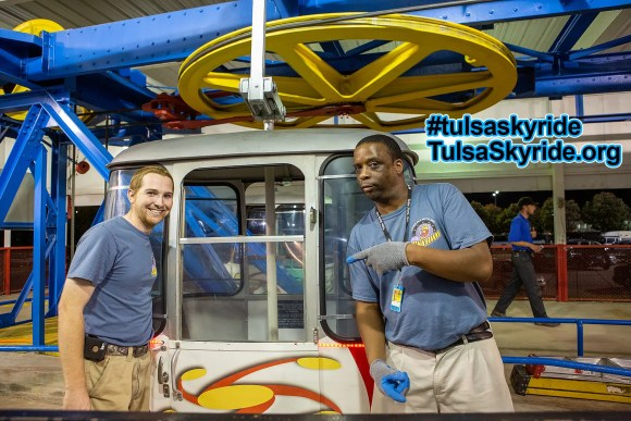 Tulsa Skyride crew 2015: Scott, Andre, Brandon