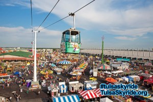 Tulsa Skyride: view of midway