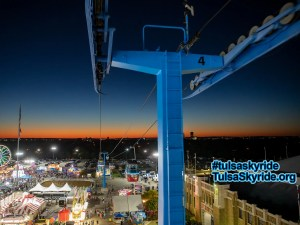 Tulsa Skyride after sunset