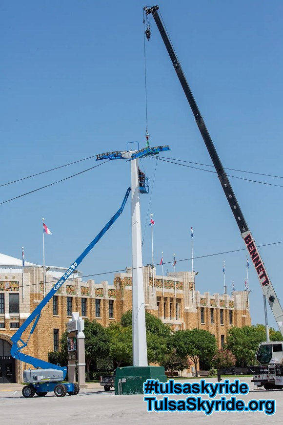 Tulsa Skyride: tower 5 maintenance in progress