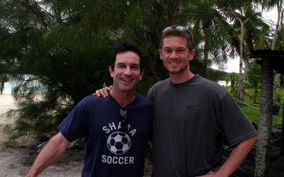 Jeff Probst from Survivor with John White