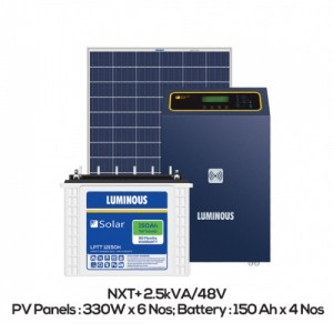 Luminous 2.5kva (2kw) Off Grid System for home with battery backup