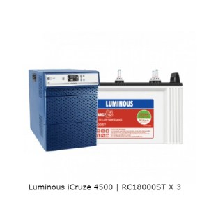 Luminous iCruze 4500 and Luminous RC18000ST – 150Ah Tubular Battery