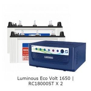 Luminous Eco Volt 1650 and Luminous Red Charge 18000st Battery