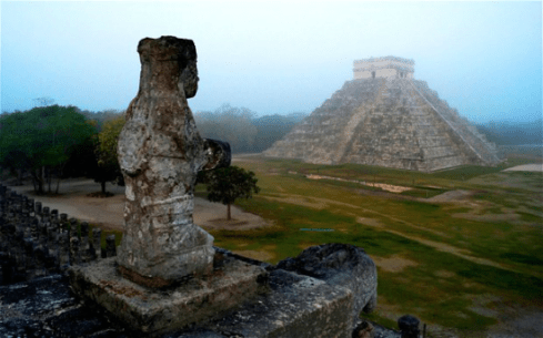 Mayan Background - The Ancient Mayan Ruins in Tulum