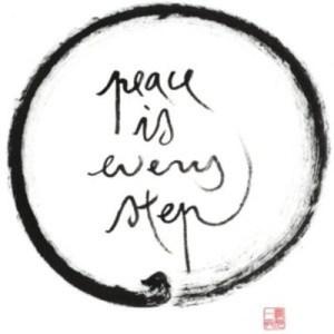 paz es cada paso. Respira