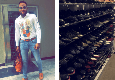 Gossip: Singer Kcee Shows Off His Shoe Closet