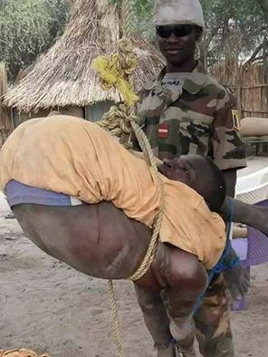 Photo: Punishment Given To Boko Haram Member By An  Army officer
