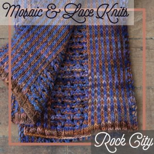 A scarf combining slip stitch colorwork and lace.