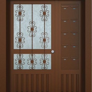 Ankara Apartman Giriş Kapısı Posta Kutulu