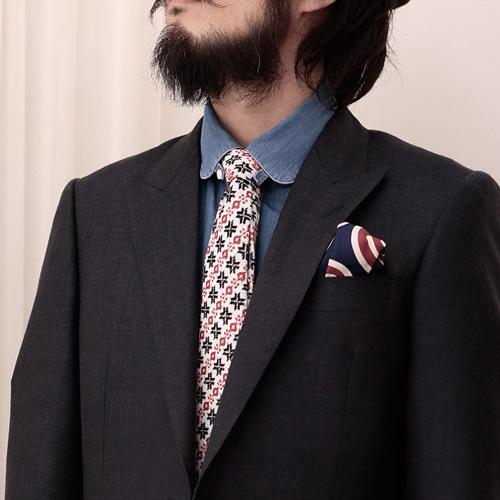 ツンドラの小紋ネクタイ