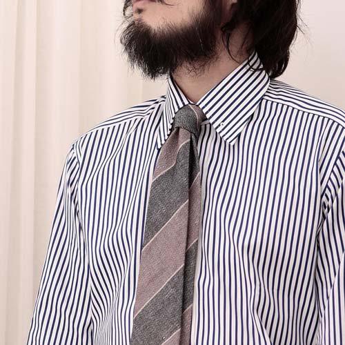 ストライプシャツに合うストライプネクタイ