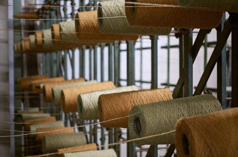 イギリスのレトロな織り機