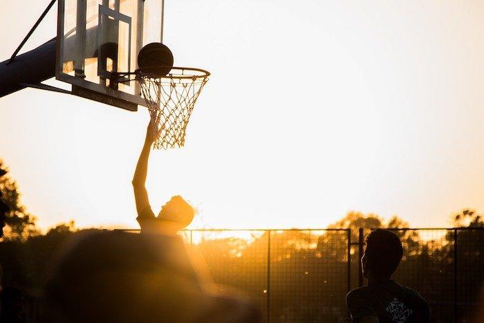 Basketball court at Kiwanis park, Hickory, North Carolina