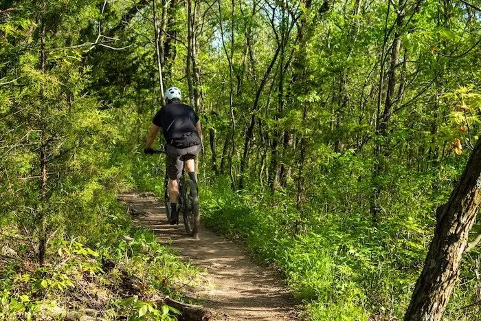 Mountain Biking at Riverbend Park, Hickory, North Carolina